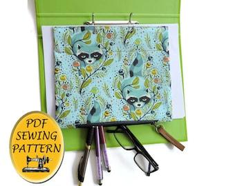 Ring binder pencil case PDF sewing pattern. File organizer pattern. Instant download PDF.#