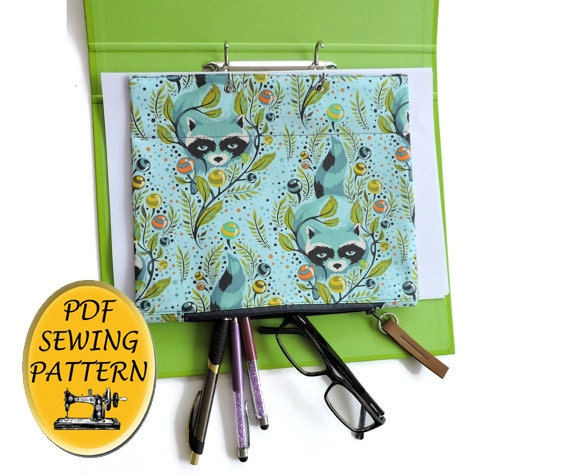 Ring Binder Pencil Case PDF Sewing Pattern. File Organizer