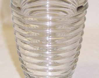 Hocking Crystal Depression Glass MANHATTAN 10 Ounce Footed TUMBLER or GLASS