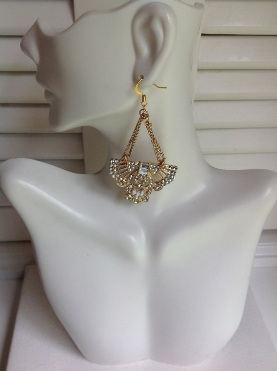 BRIDE, Silver and Gold Pierced Earrings, Mother-of-the-Bride Earrings