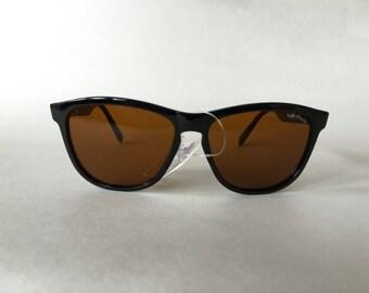 NEW 1980's Bolle Acrylex 473 black sunglasses amber lenses rare