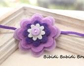 Felt flower headband-Lavender, Purple - Baby girl headband- Gift- Girl headband - Hair accessory - Toddler headband