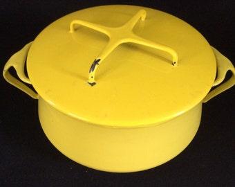 Dansk vintage yellow enamel pot