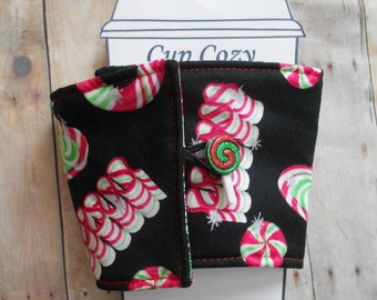 Christmas Candy Coffee Cozy