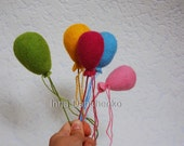 Felted Baloon - 6 balloons for Phyllis