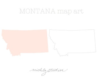 Vector & PNG Montana clipart, map clip art,state, country, silhouette, printable
