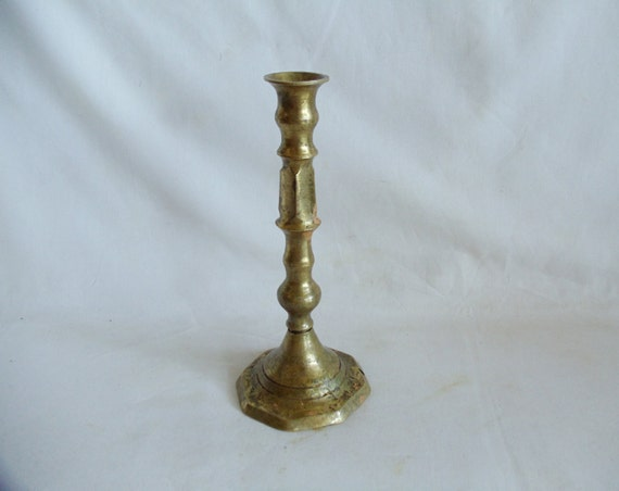 Items Similar To Sculptural Column Candle Holder Solid Vintage Brass Candlestick Christmas