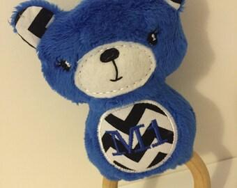 Blue Teddy Rattle Ring