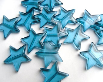 4 Color Options Transparent Acrylic Star Beads 22mm -     -S1AS1