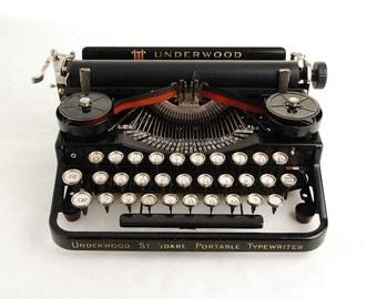 Underwood 3-Bank Portable Typewriter, 1920s