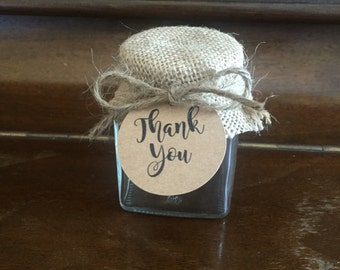 1 x 110ml Square Wedding/Party Favor Jar