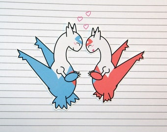 Latios/Latias Stickers and Magnets