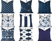Navy Outdoor Pillows ANY SIZE Outdoor Cushions Outdoor Pillow Covers Decorative Pillows Outdoor Cushion Covers Best Pillow OD You Choose