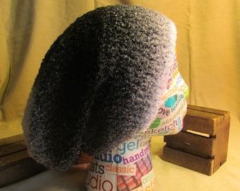 Slouchy Beanie, Slouchy Beret, Black and White Slouchy Hat, Tam Hat,Winter Hat, Crochet Beanie, Festival Wear