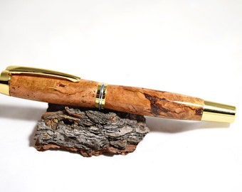 Handmade wood pen fountain pen or rollerball wooden pen handcrafted wooden fountain pen Christmas gift ideas anniversary engraving available