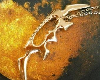 Gold Klingon Bat'leth pendant