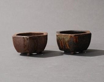 2 Mini Bonsai pot Hexagonal