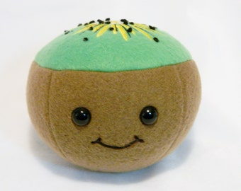 Stuffed kiwi play food toy