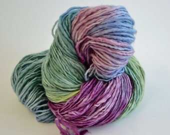 Hand dyed Yarn pick your base -  Monet -sw merino, cashmere, nylon, sock, lace, fingering, dk, worsted