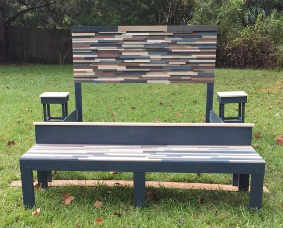 Reclaimed Wood King Bed Bench Night Stands By Jenssimpledimensions