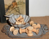 Wood Spools, Thread Spools, Small,  Wooden Spool, Sewing Supplies,  Small Spools, Craft Supplies, 10 Pieces, Woodworking Supply, Destash