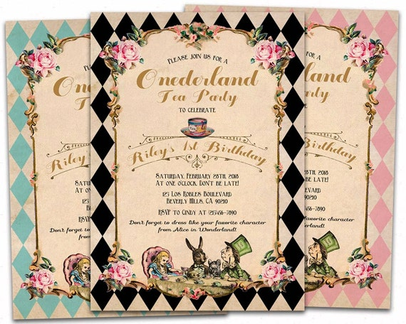 Alice In Onederland Invitations was great invitation example