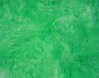 Vintage Green Tie Dye Cotton Fabric By the Yard, Cotton Yardage, 70s 1970s Hippie Flower Power Material Fabric BTY