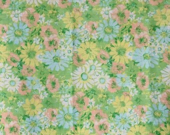 """Vintage Abstract Flower Table Cloth, Pastel Floral Summer Kitchen Dining Picnic Square Table Cloth 72"""" X 42"""""""