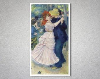 Dance at Bougival by Auguste Renoir  - Poster Paper, Sticker or Canvas Print