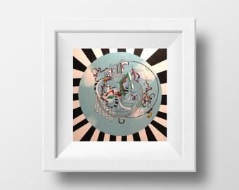 The Escapist - Abstract Wall Large Art Print, Home Decor Wall Art, Living Room Decor, Modern Art, Surreal Art, Rainbow Art