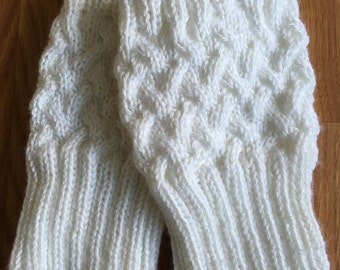 Boot Cuff Knitting Pattern / Cable Ribbed Boot Cuffs