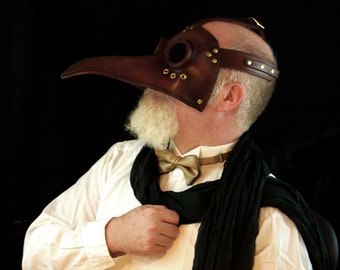 Convertible Glacanus plague doctor mask, made to order.