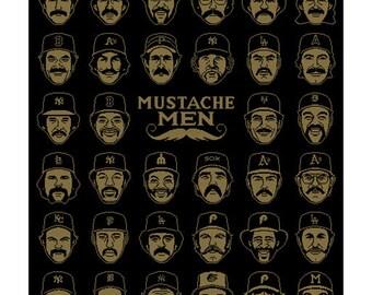 "Mustache Men, 13""x19"" Print"