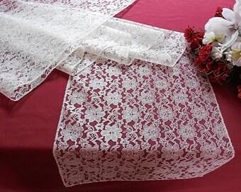 Lace table runner wedding table runner ivory lace table topper wedding table decoration