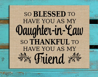 Daughter-in-Law gift, Daughter in law gift, Gift for Daughter in law, Personalized gift, Personalized print,  Daughter in law birthday