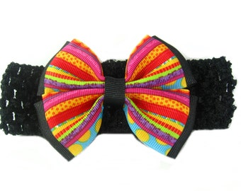 Rainbow Baby Headband, Rainbow Headband, Baby Head Band, Infant Headband, Rainbow Birthday