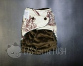 Knighthood with Minky front Custom Cloth AIO, AI2, or Pocket Cloth Diaper