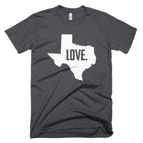 State Love (Cursive) Soft American Apparel Fine Jersey Short Sleeve Men's T-Shirt (Asphalt Gray)