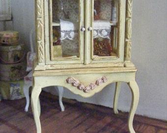 Miniature french chic cabinet