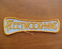 1977 Fleetwood Mac Gold Logo Patch Original RUMOURS Logo Mint Condition A Scarce Collectible From the '70s Mick Fleetwood Stevie Nicks