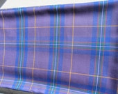 SALE** Lovely High Quality Marton Mills Tartan Plaid Wool Material / Fabric from England- Blue Purple by the Yard