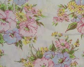 Floral pillowcase king size cottage prairie style pretty fabric pastel flowers romantic home