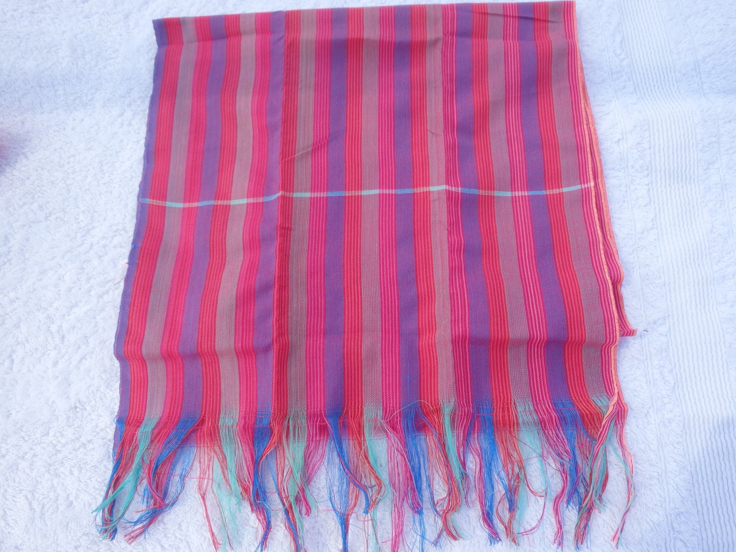 traditional cambodian khmer cotton krama scarf multi