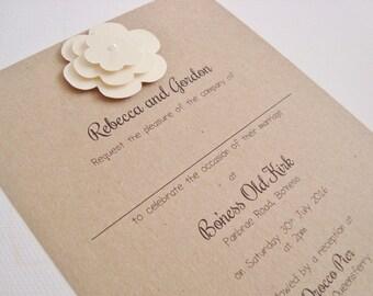 shabby chic wedding invitation  etsy uk, invitation samples
