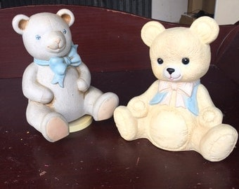 Pair of Taiwan made of Vintage musical bears...FREE shipping!!!