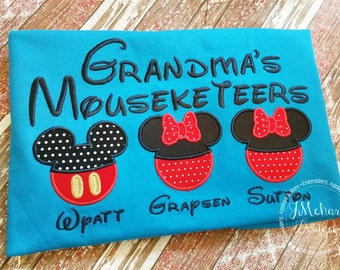 Gorgeous Custom embroidered Disney Mousketeers Shirts for the Family! 939