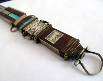 Tuareg jewellery Touareg knife Mali Ebony leather dagger dagger ethnic ethno Asia India hunting