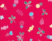 Lecien Flower Sugar Holiday 31328 30 -Fat Quarter - Candy Fabric - Christmas Fabric - Japanese