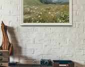 Picturesque Dainkund Peak, Landscape Photograph, Himalayas, Nature, Wall Art Print, Wall Decor, Fine Art Print, Home Decor, Flowers,
