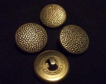 Set of 4 goldtone metal buttons